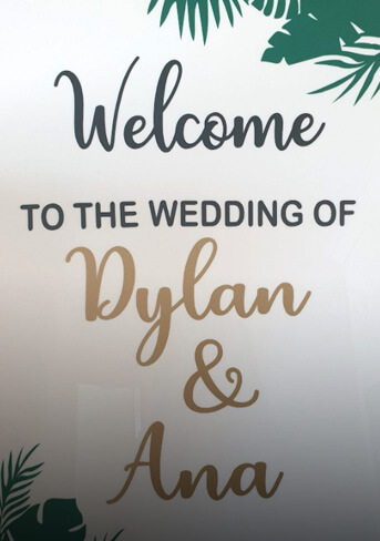 Welcome wedding sign 600×500 mm