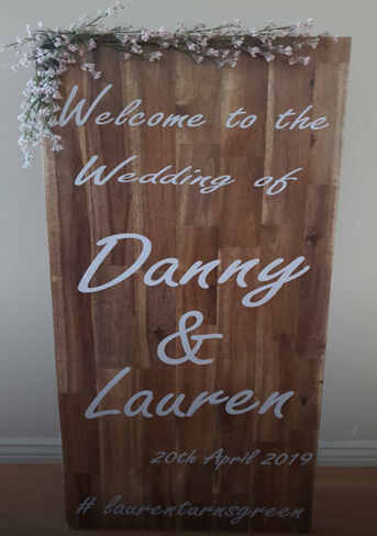 Welcome sign 1200×400 mm