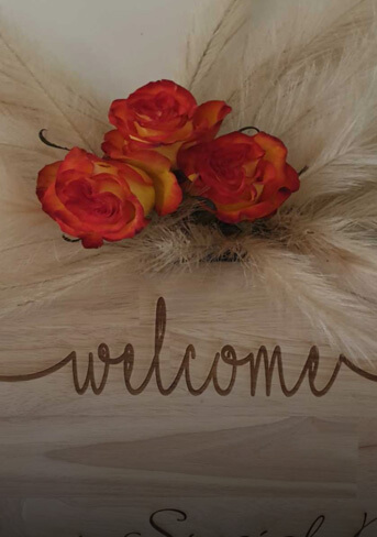 Welcome sign 600×400 mm
