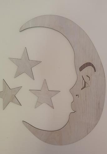 Moon and stars $80