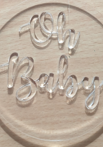 Oh Baby cookie cutter