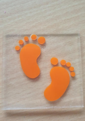Feet cookie cutter made with acrylic