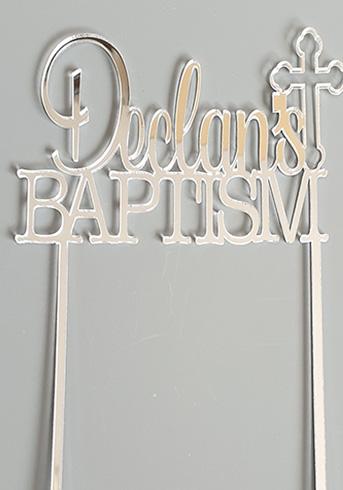 Cake topper - Baptism cake topper
