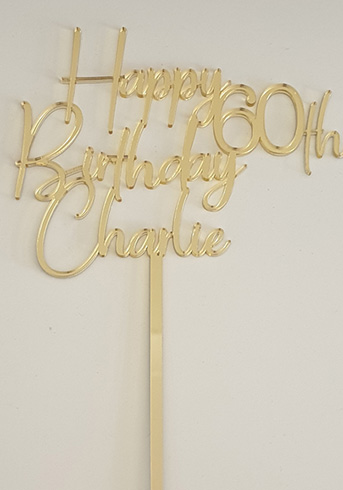 60th cake topper