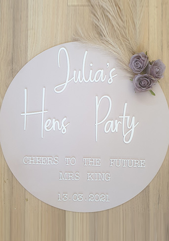 Hens Party Sign