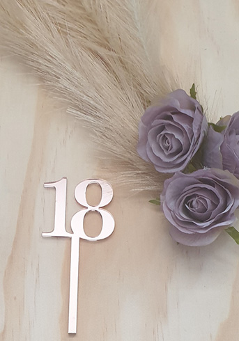 18th Cup cake toppers
