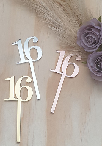 16th cup cake toppers