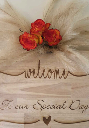 Welcome wedding sign HIRE $50