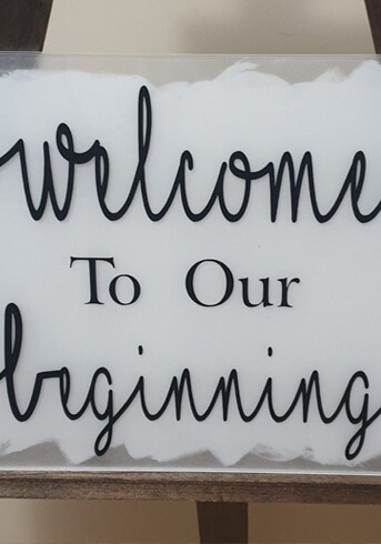 Welcome wedding signs HIRE $50